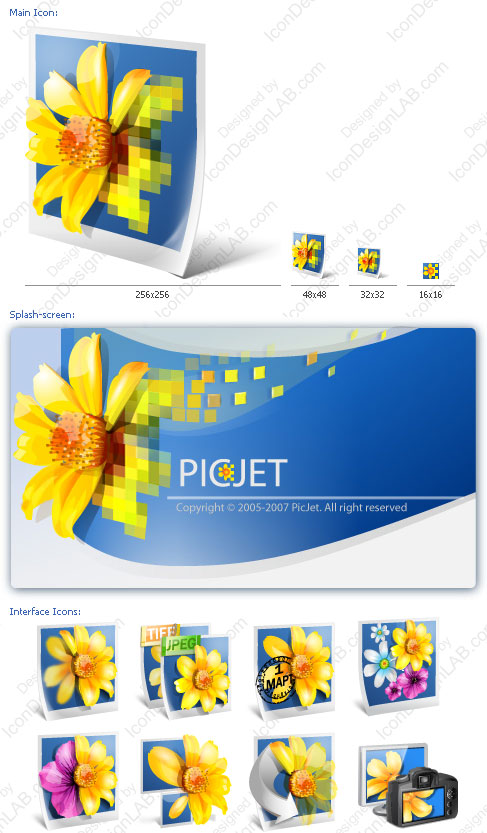 Software Identity Design for PicJet