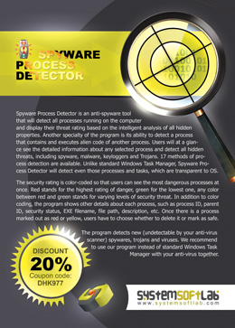 Ad for Spyware Process Detector